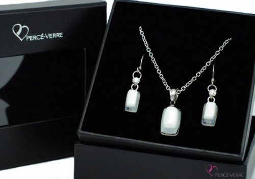 Ensemble mini bijoux blancs