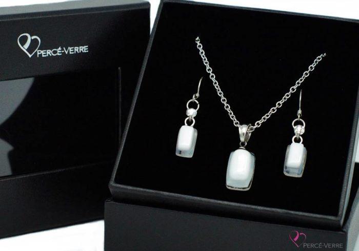 Ensemble mini bijoux blancs