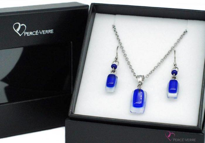 ensemble mini bijoux bleus