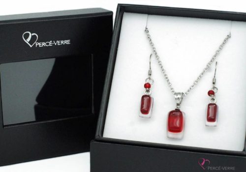 ensemble mini bijoux rouges