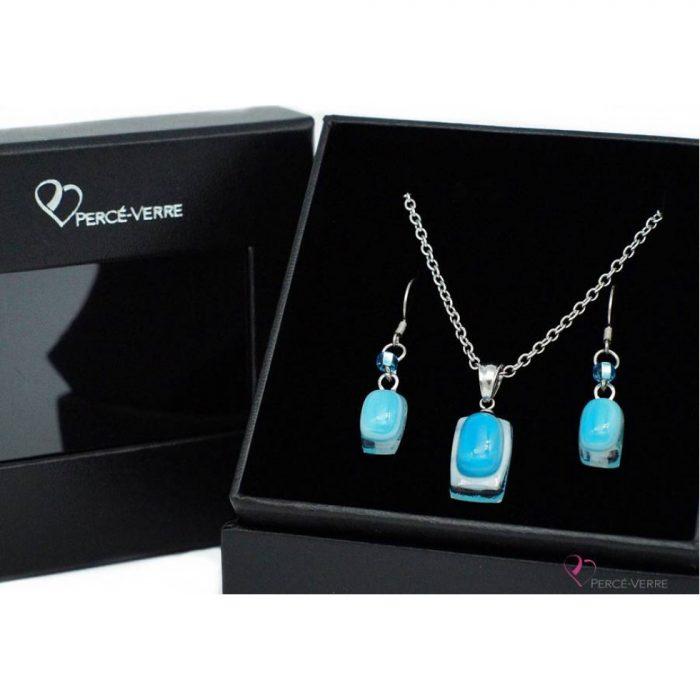 Ensemble mini bijoux turquoise