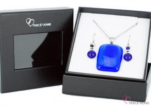 Ensemble bijoux à coloris bleu