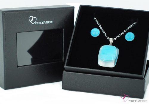 """Ensemble bijoux turquoise, collection """"Classique"""""""