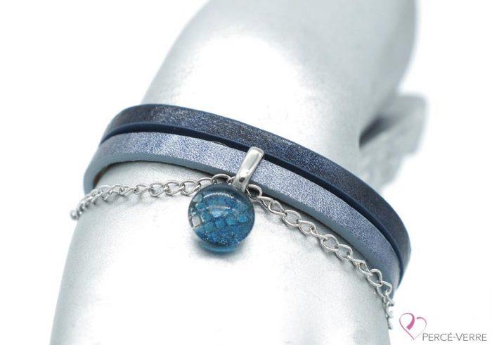 bracelet sport bleu jeans