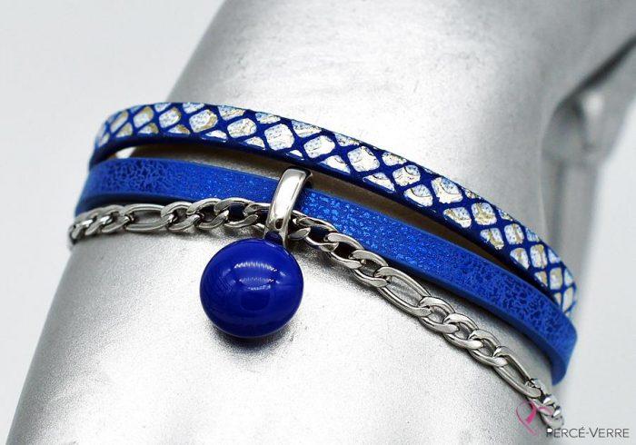 bracelet bleu métallique, collection chic #1523