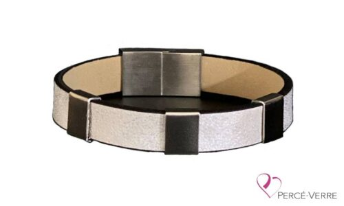 bracelet blanc argenté personnalisation