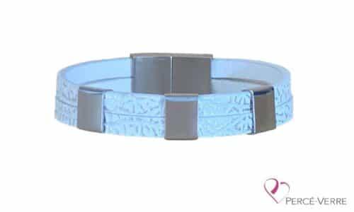 bracelet blanc personnalisation