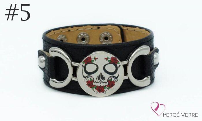 Bracelet personnalisé gratuit échantillon Squelette avec roses