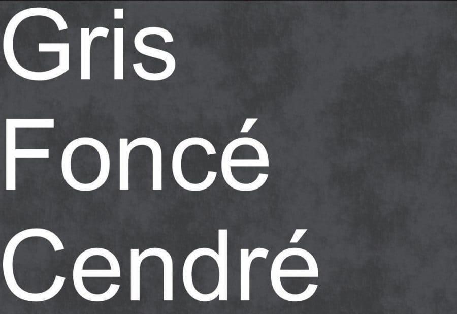Couleurs t-shirts GRIS FONCÉ CENDRÉ