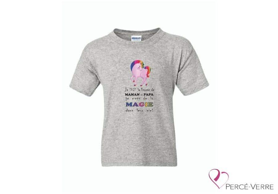 T-Shirt Je suis la licorne de maman et papa