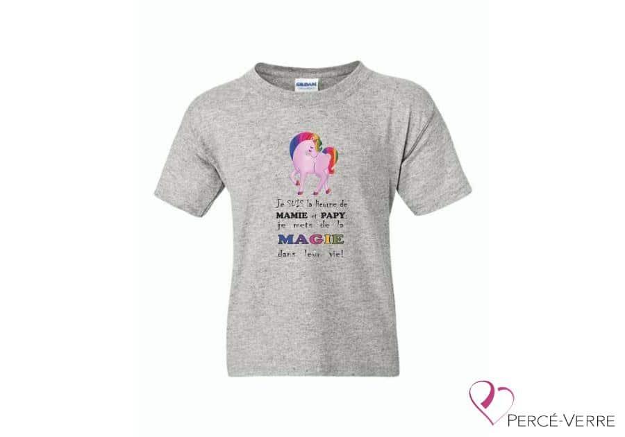 T-Shirt Je suis la licorne de mamie et pap