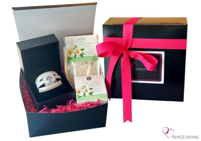 Boite cadeau Bracelet arbre de vie + Savon + sel de bain