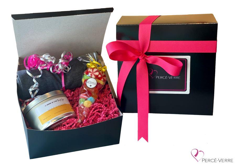 Boite-cadeau Arbre de vie (La délectable) T-shirt + chandelle + bonbons