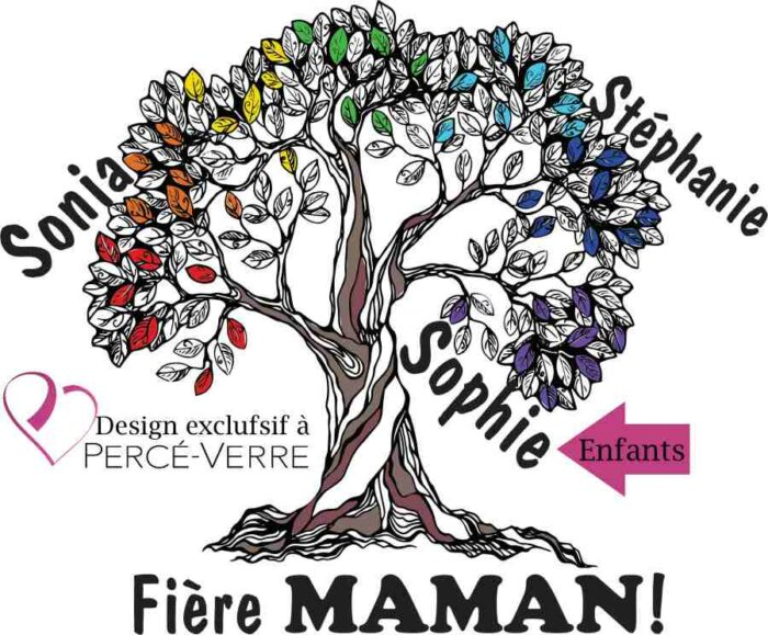 Arbre de vie T-Shirt fière maman-design