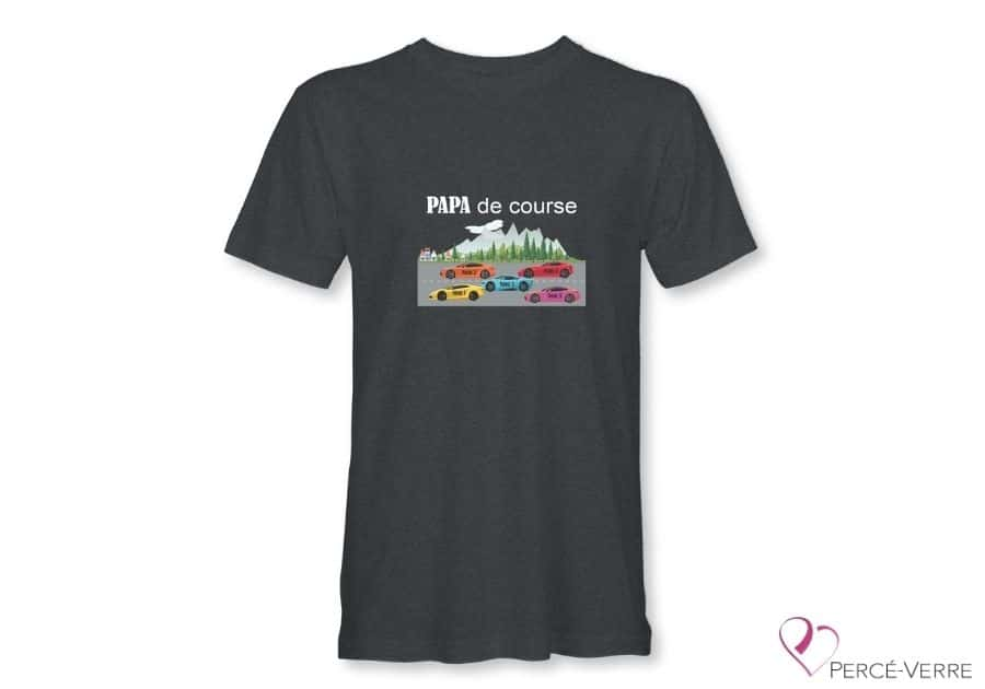 T-Shirt gris foncé pour homme Papa de course