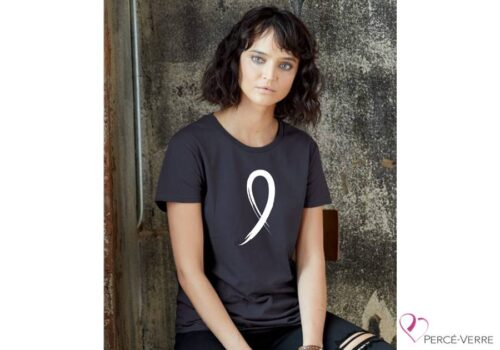 T-shirt femme ruban blanc